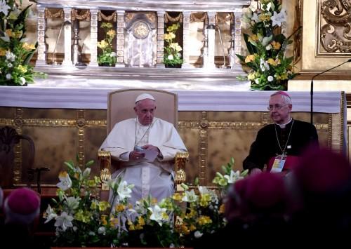 Przemówienie Przewodniczącego Episkopatu Polski podczas spotkania Franciszka z biskupami
