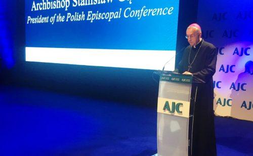 Przewodniczący KEP na otwarciu biura Komitetu Żydów Amerykańskich w Europie Środkowej