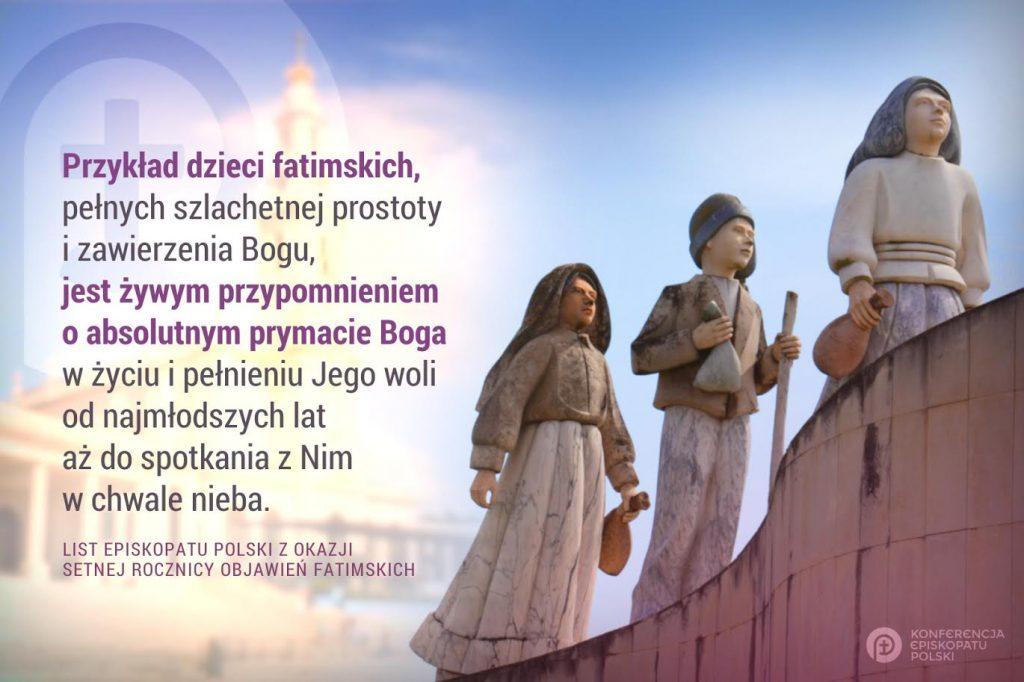 List Episkopatu Polski z okazji setnej rocznicy Objawień Fatimskich