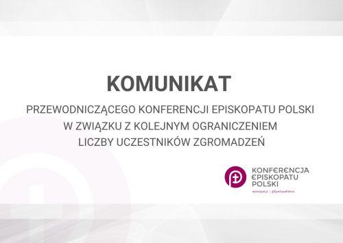 (Polski) Przewodniczący Episkopatu: proszę o uwzględnienie ograniczenia do 5 uczestników zgromadzeń religijnych