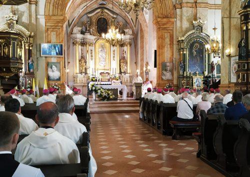Homilia: Główne linie pontyfikatu. 100-lecie urodzin św.  Papieża Jana Pawła II (Wadowice, Bazylika – 15.06.2020)