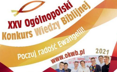XXV Ogólnopolski Konkurs Wiedzy Biblijnej