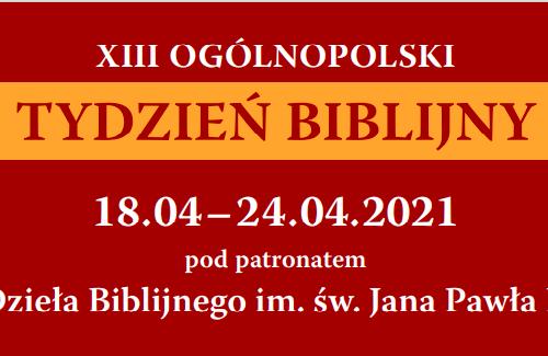 Ks. prof. Witczyk na Tydzień Biblijny: Ewangelia konieczna jak tlen