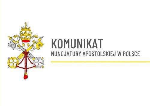 Komunikat Nuncjatury Apostolskiej w Polsce