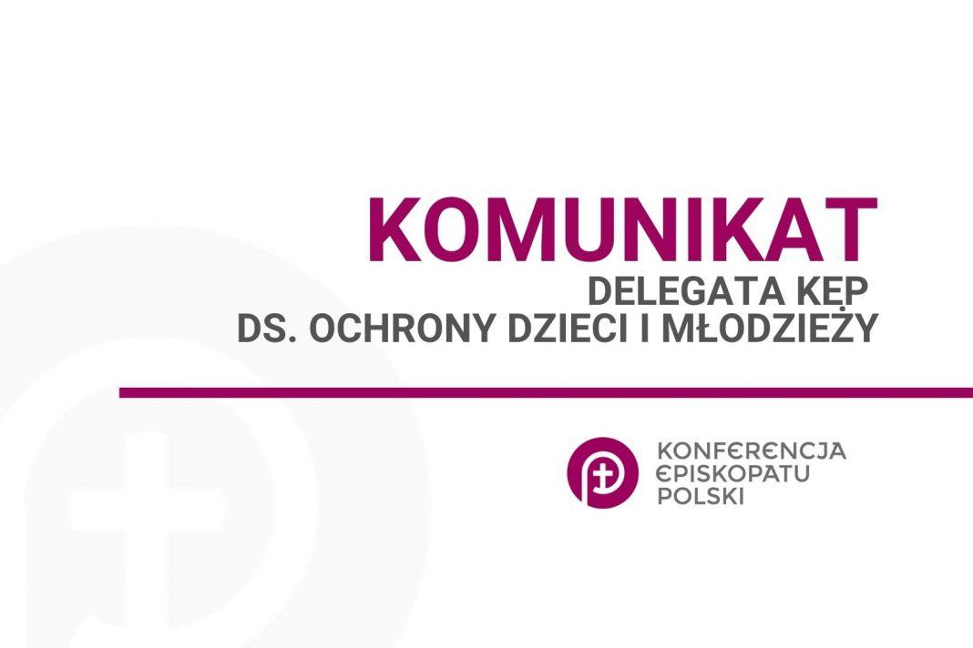 Komunikat Delegat KEP ds. Ochrony Dzieci i Młodzieży