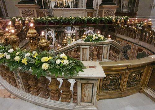 Msza św. biskupów polskich podczas wizyty ad limina apostolorum (Przy grobie św. Piotra – 11.10.2021).